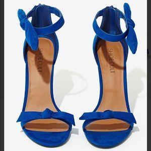 Blue Shoe Cult Bow Thyself Heel-Cobalt