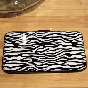 Handbags - Zebra Print Security Wallet