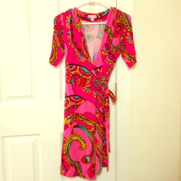 d8be1544af5d32 Lilly Pulitzer Dresses & Skirts - Lilly Pulitzer Follow the Road Adalie  wrap dress