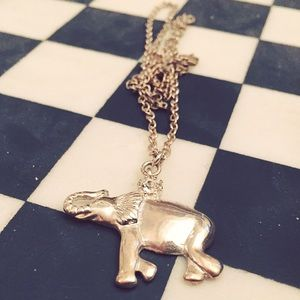 Forever 21 Jewel Elephant Chain Necklace