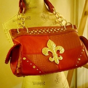 BLING Red Rustic Bag