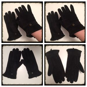 Black Suede Ralph Lauren Gloves NWOT