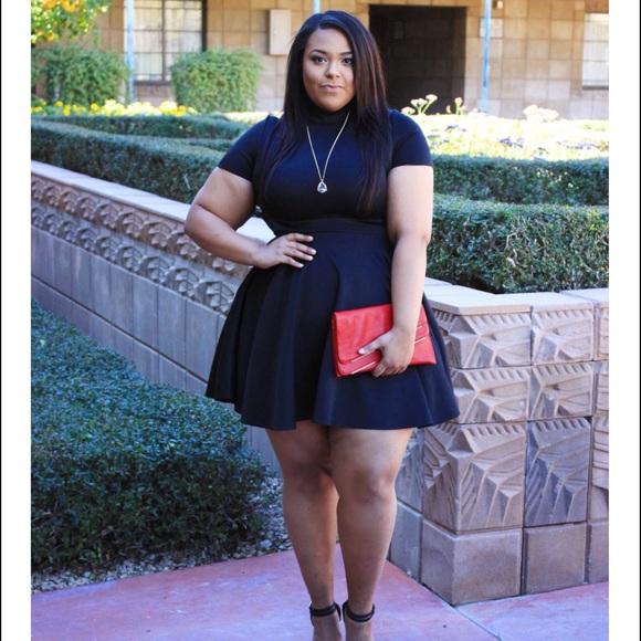 Dresses | Plus Size Black Fit Flare Dress | Poshmark