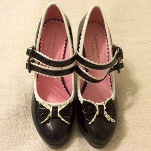 Shoes - Lolita Heels Kawaii Bow Platforms Princess Gothic