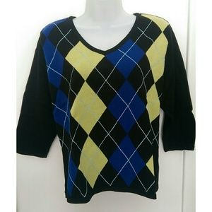 Style & Co Tops - Style & Co. Petite argyle sweater top