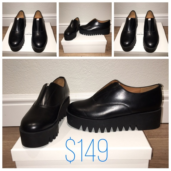 d14f66b0bbf & Other Stories Leather Platform Flats Boutique