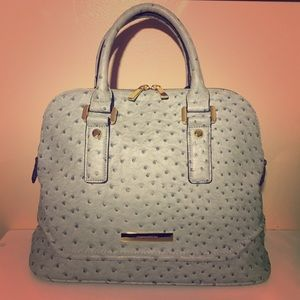 Ivanka Trump Ostrich-Embossed Faux Leather Satchel