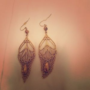 Jewelmint gold dangle earrings