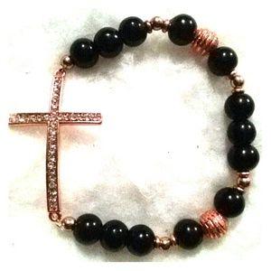 ‼️FINAL PRICE‼️Rose gold cross bracelet