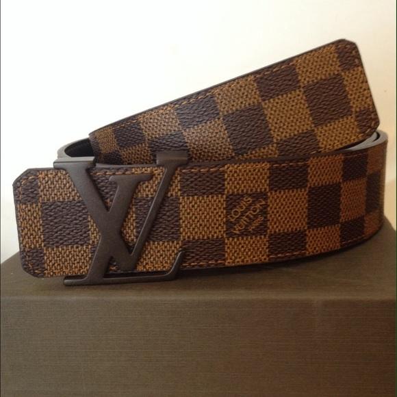 751433ceee92 Louis Vuitton LV Initiales Damier Ebene Belt