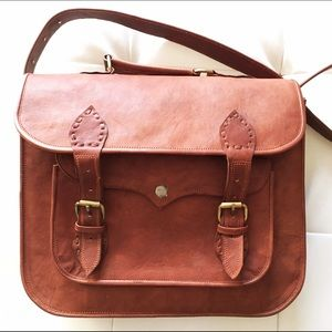 Handbags - Vintage Leather Messenger Bag
