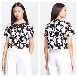 Kate Spade Crop Top Embellished Floral