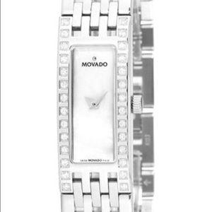 "Movado  'Esperanza"" Stainless Steel Diamond Watch"
