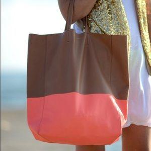 celine pink mini luggage - 58% off Celine Handbags - ??CELINE Vertical Cabas Bi-Color Tote ...