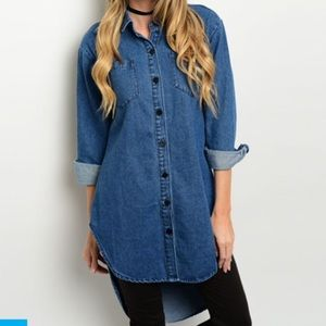 Last one!!! Denim tunic style dress top