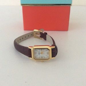 Kate spade brown gold watch Nwot