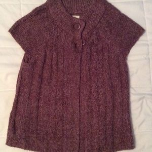 Sweaters - Capped sleeve sweater cardigan