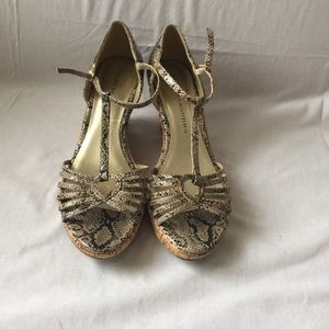 Chinese Laundry Shoes - Chinese Laundry Python t-strap wedges