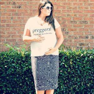 Couture Kitten Tops - Grey 'Preggers' Due in December Tee