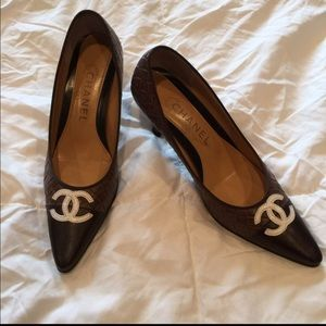 "Brown Chanel 3"" Heels"