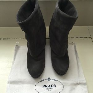 Prada Shoes - Authentic Prada Suede Ankle Boots!