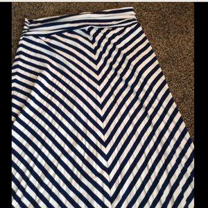 Dresses & Skirts - Navy and white maxi skirt