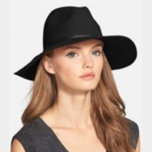 Hinge Accessories - Hinge — Faux Leather Trim Wool Felt Panama Hat e3b8322f312