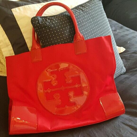 7b486fb7ce7 Tory Burch large red Ella nylon Tote. M 56b4d5e64127d0906c003af3