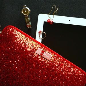 LAST ONE Cole Haan Minetta Red Glitter Tablet Case