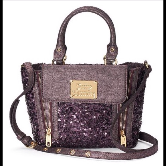 d8562272a447 Juicy Couture Mini Zelda Purple Sequin Handbag Bag