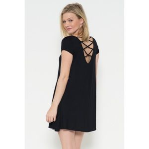 Black Strap Back Dress