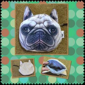 Handbags - 🆕 Cute dog face zipper coins purse