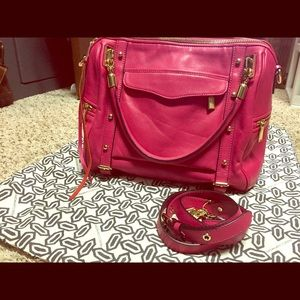 Rebecca minkoff Cupid satchel pink leather.