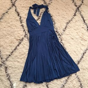 Forever 21 Dresses & Skirts - Blue Satin Dress