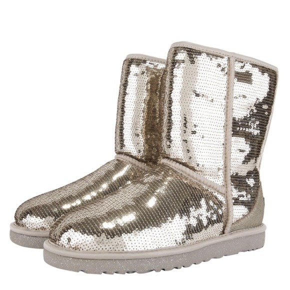 Silver Gold Sequin Ugg Boots❤ ❤ ❤ ❤️