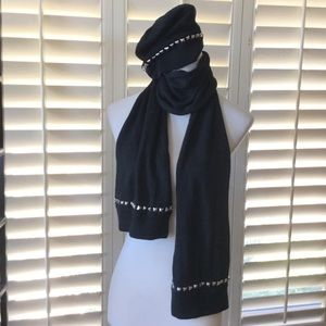American Retro Accessories - American Retro studded Scarf and Hat Set