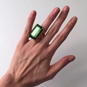 Forever 21 Jewelry - Emerald Green Cocktail Ring