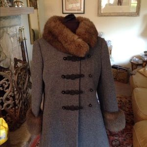 Amazing vintage wool and fur coat