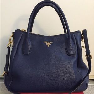 prada semitracolla vitello daino bag