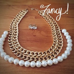 Pearl Lucille Links Necklace