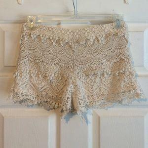 Shorts - Lace layered shorts