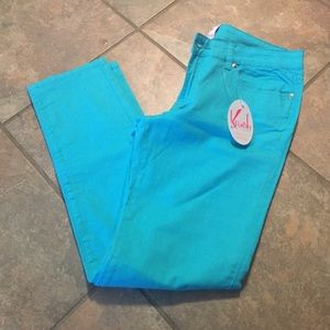 Krush Denim - Turquoise skinny jeans size 11 NWT