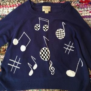 wildfox white label musical sweater