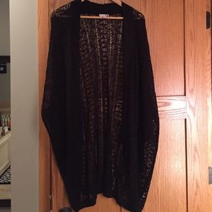 14th & Union Sweaters - Never worn! Long black lace cardigan