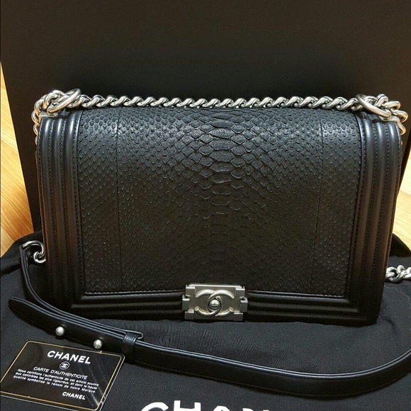 27476cc84f51 CHANEL Bags | Sold Python Boy Sz New Medium | Poshmark