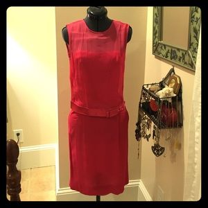 Vintage hot pink 60's cocktail dress