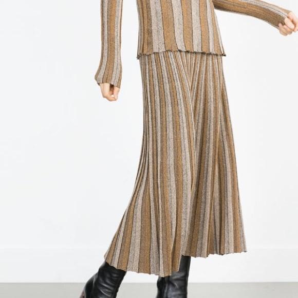 43 zara dresses skirts zara two tone pleated