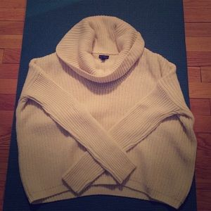 Cowl neck express sweater