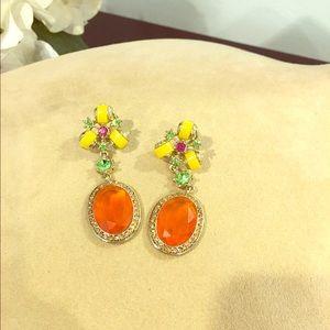 Jewelry - Jeweled enamel dangle earrings