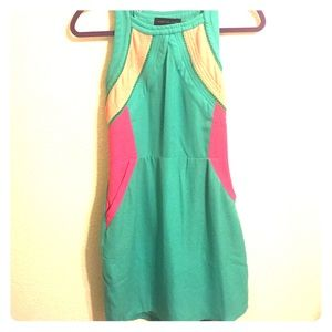 CUTE Blue and Pink Dress with open back size M